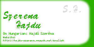 szerena hajdu business card